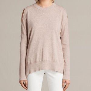 Allsaints Sz M Reya Jumper Cold Shoulder Sweater